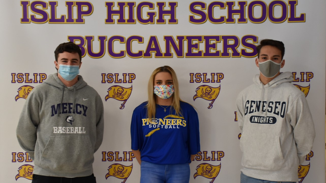 Three senior athletes from Islip sign for college this fall