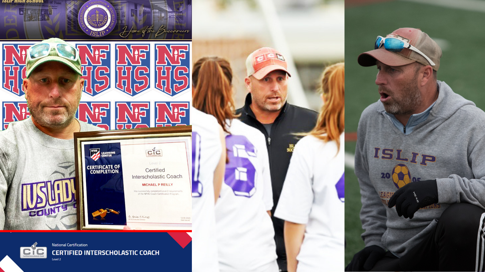 Islip HS coach Mike Reilly earns NFHSS Level II certification
