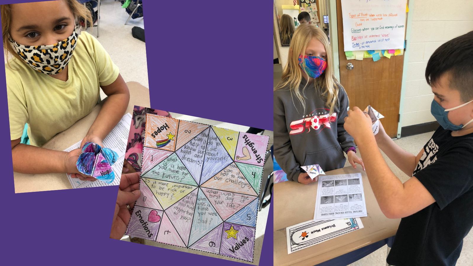 "Commack Road Third Graders Gain Awareness With ""Fortune Teller"" Game"