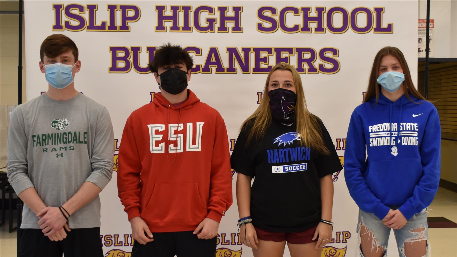 Four Seniors Sign to Play Sports in College